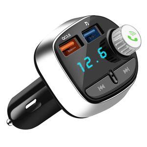 Bluetooth FM Transmitter, Wireless Auto Radio Freisprecheinrichtung mit TF-Anschluss Doppel-USB Ladegerät MP3 Music Player, für iOS und Android Bluetooth-Geräte