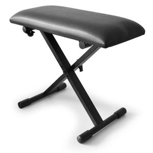 Schubert Klavier Hocker (Piano-Sitz, Keyboard-Schemel, Kunstlederbezug, klappbar) schwarz