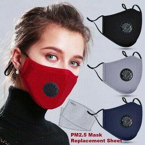 Wiederverwendbar    Atemschutzmaske aus Baumwolle mit Anti-Staub-Mund+ 10Stk PM2.5 Maskenfilter