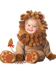 Süsser Löwe Babykostüm braun
