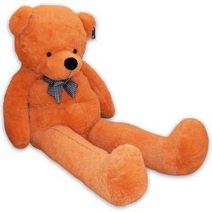 XXL Riesen Teddybär Kuschelbär Kuscheltier Riesen Plüschtier Bär 200cm Hellbraun