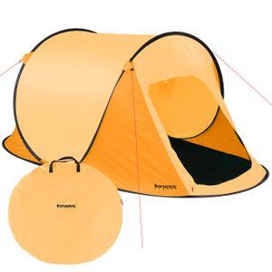 Kinetic Sports Wurfzelt Pop-Up-Zelt Campingzelt für 2 Personen Orange