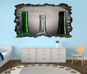 3D Wandtattoo Weinflaschen leer retro Stillleben selbstklebend Wandbild Tattoo Wohnzimmer Wand Aufkleber 11L2071, Wandbild Größe F:ca. 97cmx57cm