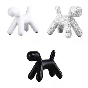 3 Stück Polyresin Ballon Hund Figuren