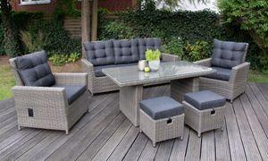 Aluminium Dininglounge Asti 19-teilig, braun von bellavista - Home&Garden