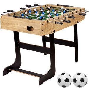 """GamesPlanet® Tischfussball """"Belfast"""", klappbar, Holz hell"""