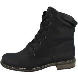 Rieker 71229-02 Schuhe Damen Stiefel Stiefeletten Ankle Boots Warmfutter, Größe:40 EU, Farbe:Schwarz