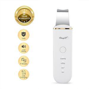Tragbarer Hautwäscher Gesichts Scrubber mit 4 Modi Wiederaufladbarer USB-Mitesserentferner Vibrationskomedonen Extraktor für die Tiefenreinigung und das Hautpeeling