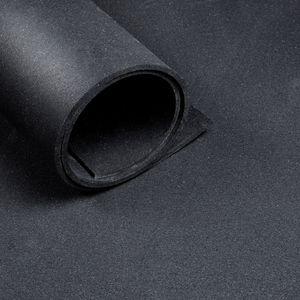 Sportboden – Bodenbelag für den Fitnessraum – Schwarz – Rolle 10m – 10mm dick