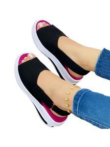 Damen Low-Top-Einzelschuhe mit flachem Absatz und flachem Absatz Lässige Sandalen zur Erhöhung der Körpergröße,Farbe: Schwarz,Größe:38