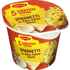 Maggi 5 Minuten Terrine Spaghetti in cremiger Käse Sahne Sauce 62g