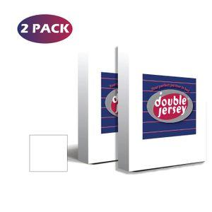 Double Jersey -Spannbettlaken Doppelpack  - 100% Baumwolle Jersey-Stretch, Ultra Weich, 90x200+38 Weiß