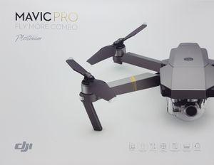 DJI Mavic Pro Fly More Combo Platinum Edition, Farbe: Schwarz/Grau