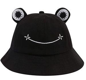 Buckethut für Erwachsene, Frosch, Anglerhut, Sonnenhut, Sommermütze aus Baumwolle, niedlicher Frosch-Hut für Damen
