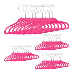 relaxdays 40x Kinderkleiderbügel Samt Kunststoffkleiderbügel Samtkleiderbügel Babybügel