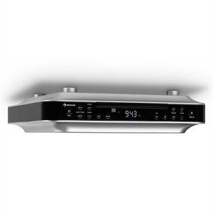 auna KRCD-100 BT Unterbau-Radio Küchenradio (CD-Player, Wecker, Timer, UKW-Radio, Bluetooth, MP3, LCD-Display, 29 x 8 x 26,5 cm (BxHxT), ca. 1,2 kg, Leistung 2 x 12 Watt RMS) schwarz