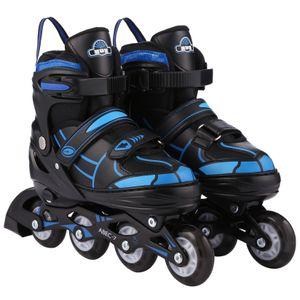 Inline Skates für Kinder, Rollerskate|mit PolyurethanRoller, 8 LED-Rädern, ABEC-7-Lager, Aluminium-Legierung, Größenverstellung, Größe 38-41(L)|verschleißfest, stoßdämpfend, fester Halt