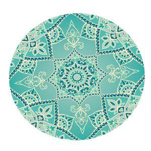 Boho Mandala Tischdecke Anti Rutsch Tischdecke Mit Polyester Rücken Passform Bis Zu 120 Cm Durchmesser. Runde Tische Multicolor Stil Stil 1 Als Bild Gezeigt