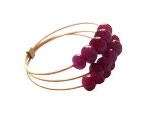 Damen Ring Vergoldet Rubin Rot Ringgröße:60 (19.1)