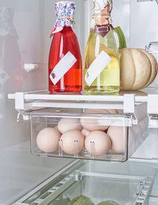 Kühlschrank-Organizer Schubladenorganizer Einzigartiges Design Pull Out Behälter für Kühlschrank Aufbewahrungsbox Haus Organizer
