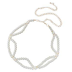 Vintage Damen Perlen Kettengürtel Kette Hüftgürtel Taille Metall Gürtel