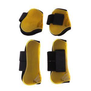 Pferd Gamaschen und Streichkappen Reitsport Springen Beinschutz Stiefel -(Gelb,)