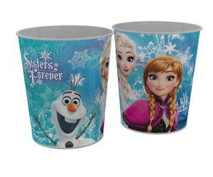 Disney Frozen Die Eiskönigin Anna Elsa Papierkorb Eimer Mülleimer blau