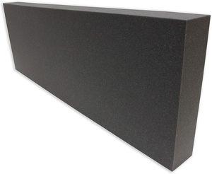 Dibapur Rückenlehne (OHNE BEZUG) (120x40x10 cm) Rückenkissen - Kaltschaum für Palettenkissen Anthrazit/Schwarz Schaumstoff für Europalette - RG29/44 - Hundekissen