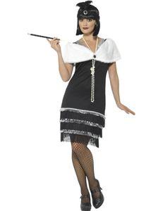 Damen Kostüm Flapper Charleston 20er Kleid Karneval Fasching Gr. L