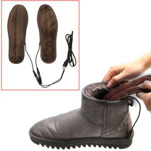 Elektrisch Beheizte Schuheinlage Einlegesohlen Beheizbare Einlagen Schuhheizung USB Fußwärmer Größe : 37-38