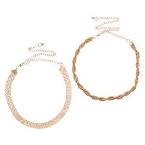 2er Pack Frauen Gold Metall Taillengürtel Taillekette Bauchkette Kettengürtel