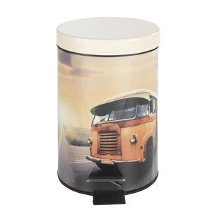 Wenko Treteimer Retro Vintage Bus für Bad Büro Kosmetik