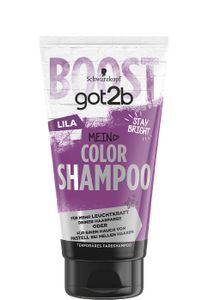 3 x Schwarzkopf got2b Color Shampoo Lila jeweils 150ml Temporäres Farbshampoo