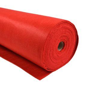 Bastelfilz 1m Meterware Filz 90cm x 1,5mm Dekofilz Taschenfilz Filzstoff 39 Farben, Farbe:rot