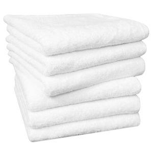 Handtuch 6er Set, Baumwolle, 50x100 cm, weiß