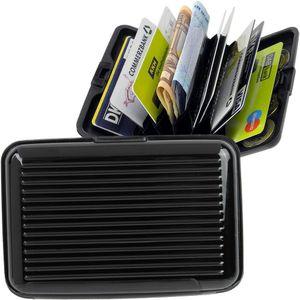 GKA RFID Kartenetui Aluminium schwarz Karten Safe Card Wallet Kreditkarten Visitenkarten Etui EC RFID-Sicherung Geldbörse Portemonnaie Kartenbörse