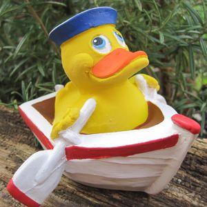 Badeente - Ahoi Duck - aus Kautschuk Gummiente Quietscheente