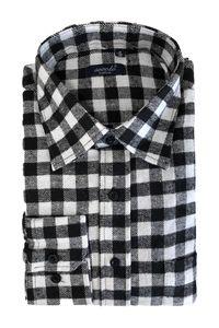 Herren Hemd Kariertes Flanell Holzfällerhemd Checkshirt Freizeit Vintage Baumwolle Baumwolle, Farben:Weiß, Größe Hemd:XL