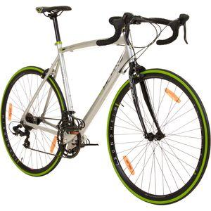 Galano Vuelta STI 28 Zoll Rennrad 700c Road Bike mit Rennradlenker Fahrrad Fitnessrad 14 Gänge, Farbe:grau/grün, Rahmengröße:53 cm