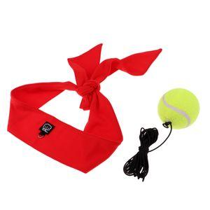 Fight-Ball Kopfband für Punch, Boxen, MMA und andere Kampfsports Übung Farbe rot