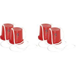 Hudora 76073-Rot-Rot 2 Paar Topfstelzen &quotJoey&quot (Ro