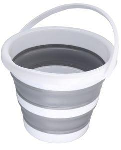 Eimer faltbar 5l - robuster Falteimer 5 Liter Fassungsvermögen für Camping, Haushalt, putzen etc.