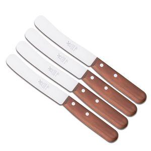 Windmühlenmesser Frühstücksmesser Buckels Set 4 Kirsche