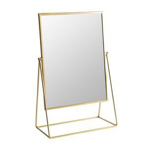 Harbour Housewares Frisierkommode Rasierspiegel - Freistehende Tabletop-Verfassungs-kosmetische Spiegel - 32cm - Gold
