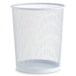 Zeller Papierkorb, Mesh, weiß - Ø29,5x35; 17724