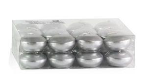 Schwimmkerzen 24 Stück Silber Ø 45 mm
