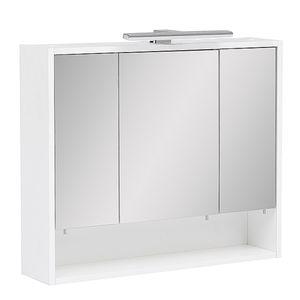 Schildmeyer Spiegelschränke Badschrank Oberschrank 70x65,6x16cm kreideweiß