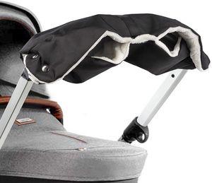ONVAYA® Kinderwagenmuff | Kinderwagen Handwärmer | Schwarz | Warme Handschuhe für den Kinderwagen