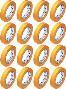 16x Goldband 19mm x 50m Abdeckband für Maler und Lackierer ⎥ Abklebeband klebemeister®