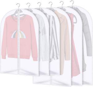 Kleidersäcke 6 Stücke Kleiderhülle Anzughülle - Langzeitaufbewahrung Von Jacke Mantel Kleider Anzug Schutz Vor Staub Motten Schäden Durchsichtiger Kunststoff 3x120x60cm 3x100x60cm